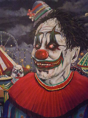 Evil Clown Painting - No Way Out by James Guentner