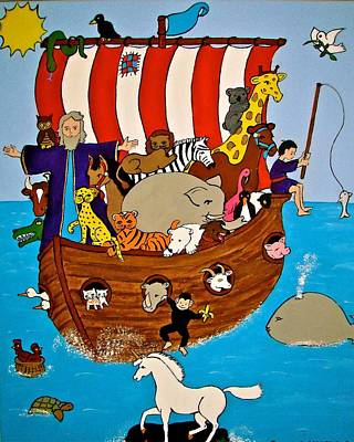 Painting - Noah's Ark #2 by Stephanie Moore