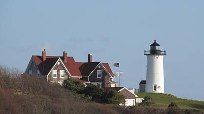 Nobska Lighthouse Cape Cod Art Print
