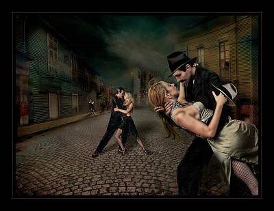 Bandoneon Wall Art - Photograph - Noche De Tangos by Raul Villalba