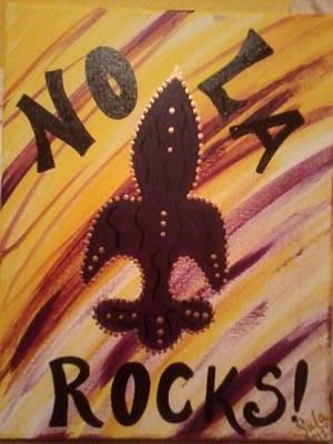 Nola Rocks Art Print by Sula janet Evans