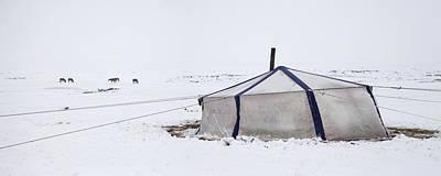 Yurt Photograph - Nomadic Pastoralist Dwelling. Yurt by Phil Borges