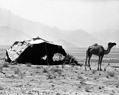20st Century Photograph - Nomadic Tents Can Be Seen by Everett