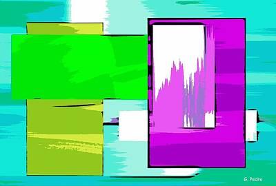 Algorithmic Painting - Nombre Abstrait 13 by George Pedro