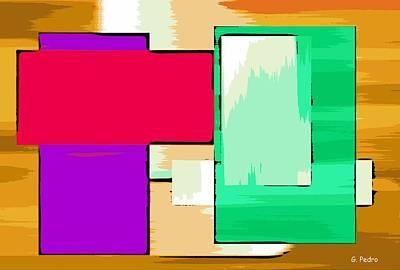 Algorithmic Painting - Nombre Abstrait 16 by George Pedro