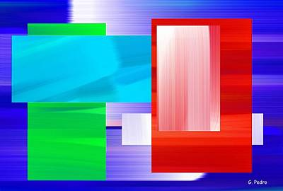 Algorithmic Painting - Nombre Abstrait 6 by George Pedro