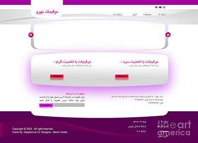 Noori Company Web Template Art Print by Ramin Torabi
