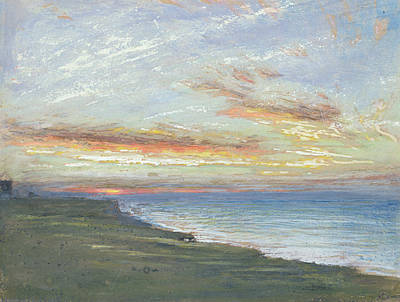 Norfolk Wall Art - Painting - Norfolk Coast by Albert Goodwin