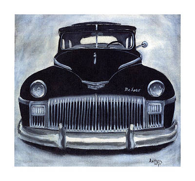Painting - Norma Jean's 1948 De Soto by Andrea Camp