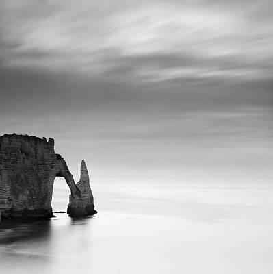 Beach Landscape Photograph - Normandy Etretat by Nina Papiorek