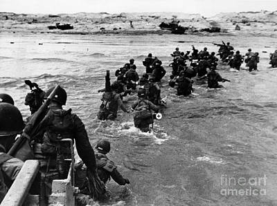 Photograph - Normandy Landing by Photo Researchers