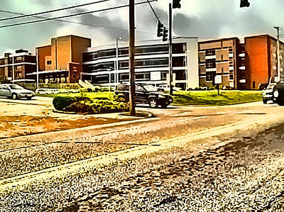 Digital Art - North Arkansas Regional Medical Center by Kathy Tarochione