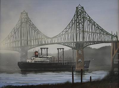 Trussed Painting - North Bend Bridge by George E Lee