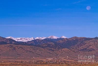 North Boulder County Colorado Full Moon View Art Print by James BO  Insogna