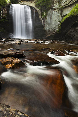 Pisgah Photograph - North Carolina Waterfall by Andrew Soundarajan
