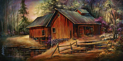 Old Barns Painting - North Country by Michael Lang