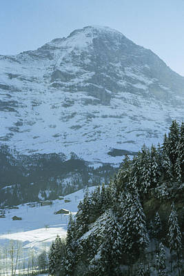 North Face Of The Eiger Towers Art Print by Gordon Wiltsie