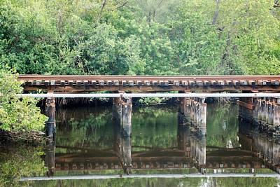 North Fork River Bridge Art Print by Rob Hans