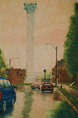 Painting - North Grand Water Tower by Terry Jackson