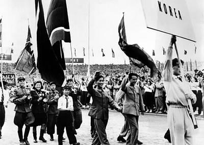 North Korean Delegates To The Communist Art Print