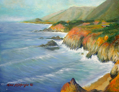 North Of Big Sur Art Print by Max Mckenzie