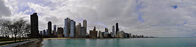 Art Print featuring the photograph North Of Navy Pier From The Series Chicago Skyline by Verana Stark