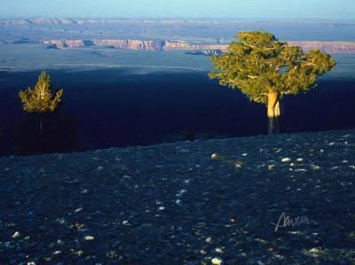 Digital Art - North Rim Sunset by Jim Pavelle