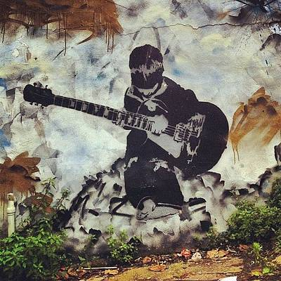Guitar Wall Art - Photograph - North Road By The Arch's On Cheltenham by Nigel Brown