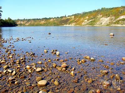 Art Print featuring the photograph North Saskatchewan River by Jim Sauchyn