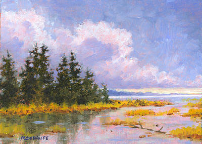 Lake Painting - North Shore by Richard De Wolfe