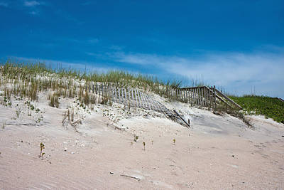 Topsail Photograph - North Topsail Dunes by Betsy Knapp