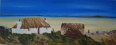 Scotland Painting - North Uist Stonehouse by Margaret Denholm