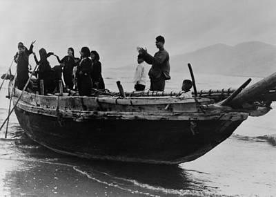 North Vietnamese Refugees Arrive At Da Art Print by Everett