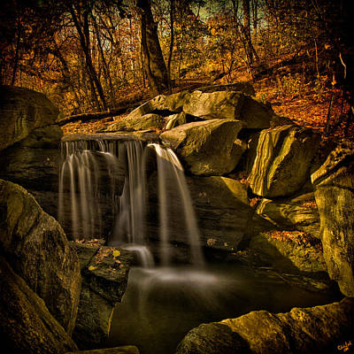 Photograph - North Woods Waterfall Central Park by Chris Lord