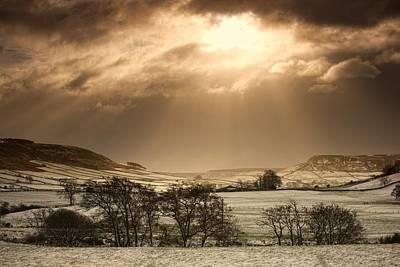 North Yorkshire, England Sun Shining Art Print by John Short