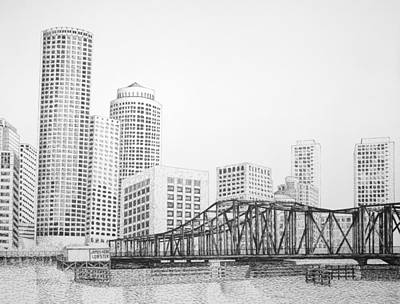 Northern Avenue Bridge - Boston Art Print
