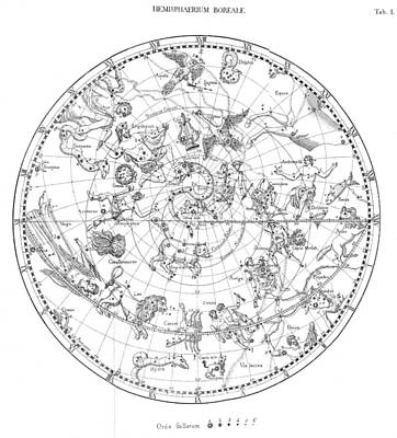 Northern Celestial Map Art Print by Science, Industry & Business Librarynew York Public Library