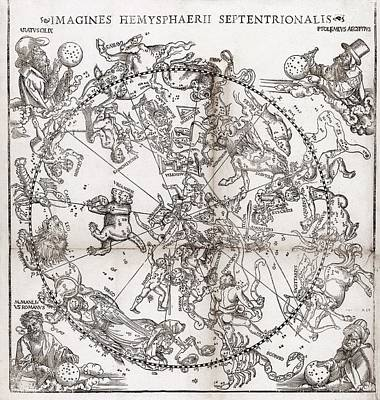 Northern Hemisphere Star Chart, 1537 Art Print by Middle Temple Library
