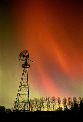 Caravaggio - Northern Lights And Windmill by Carson Ganci