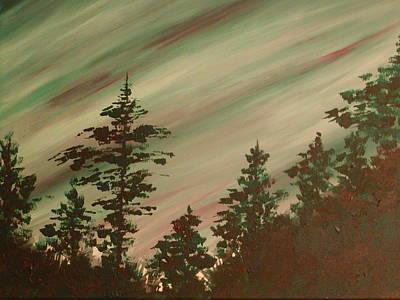 Northern Lights Art Print by Debbie Beck