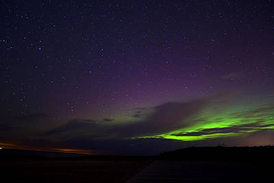 Northern Lights Photograph - Northern Lights In Muskegon Michigan by Joe Gee