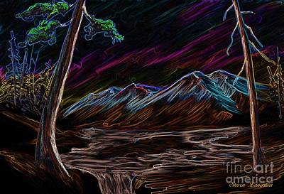 Art Print featuring the painting Northern Lights by Steven Lebron Langston