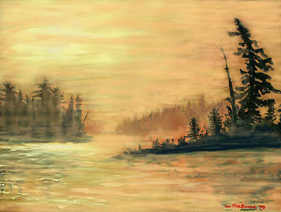 Sudbury River Painting - Northern Ontario Summer Morning by Ian  MacDonald