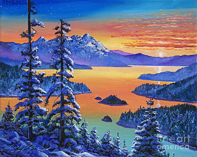 Painting - Northern Sunrise by David Lloyd Glover