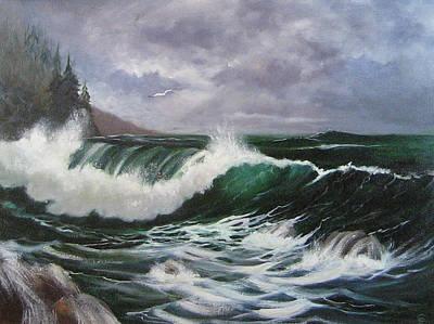 Northwest Currents Art Print by Colleen Lambert