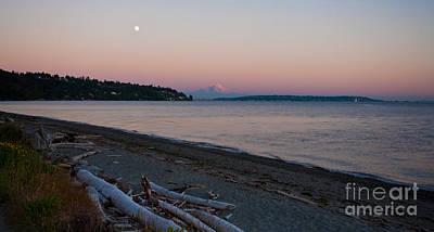 Moon Beach Photograph - Northwest Evening by Mike Reid