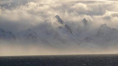 Norwegian Arctic Hills Art Print by Christopher Mullard