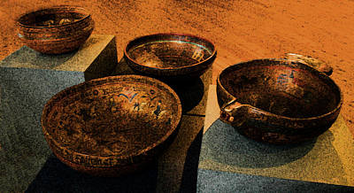 Norwegian Bowls Art Print by Nina Fosdick