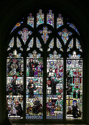 Photograph - Norwich Stained Glass Window by Paul Cowan