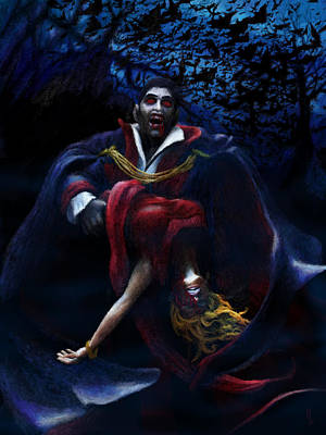 Dracula Digital Art - Nosferatu Snacking by Ryan Cossette